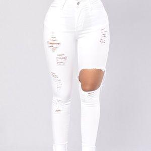 Glistening Jeans - White Fashion Nova